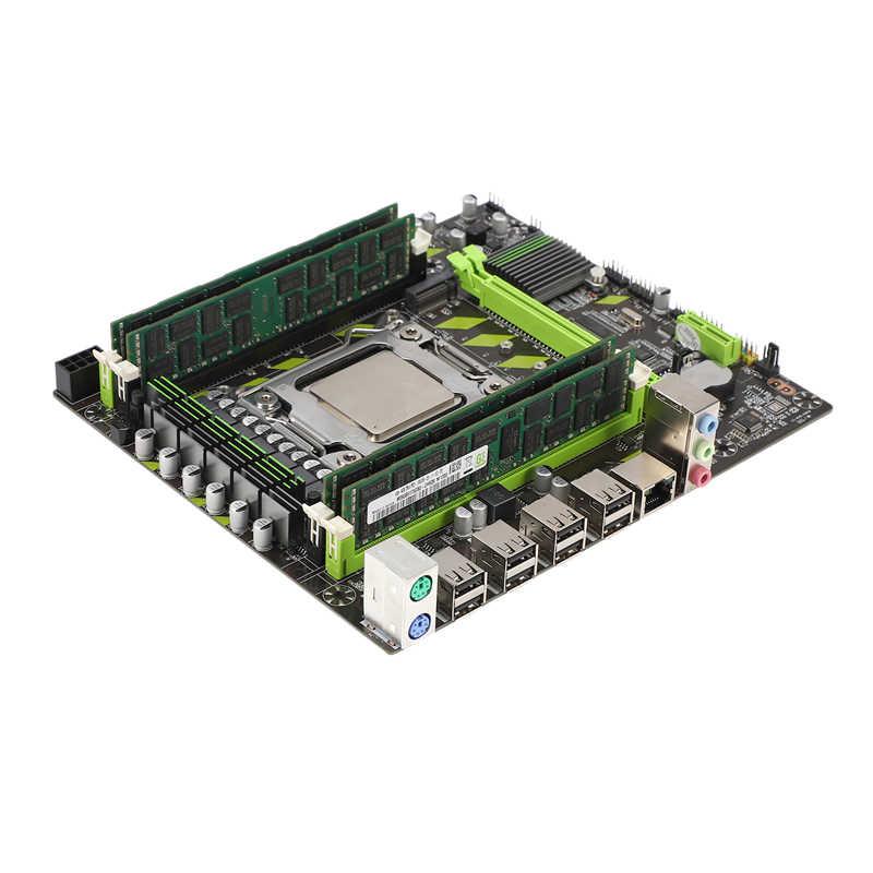 X79 anakart Lga 2011 4xDdr3 çift kanal 64Gb bellek Sata 3.0 Pci-E 8Usb için masaüstü çekirdek I7 Xeon E5