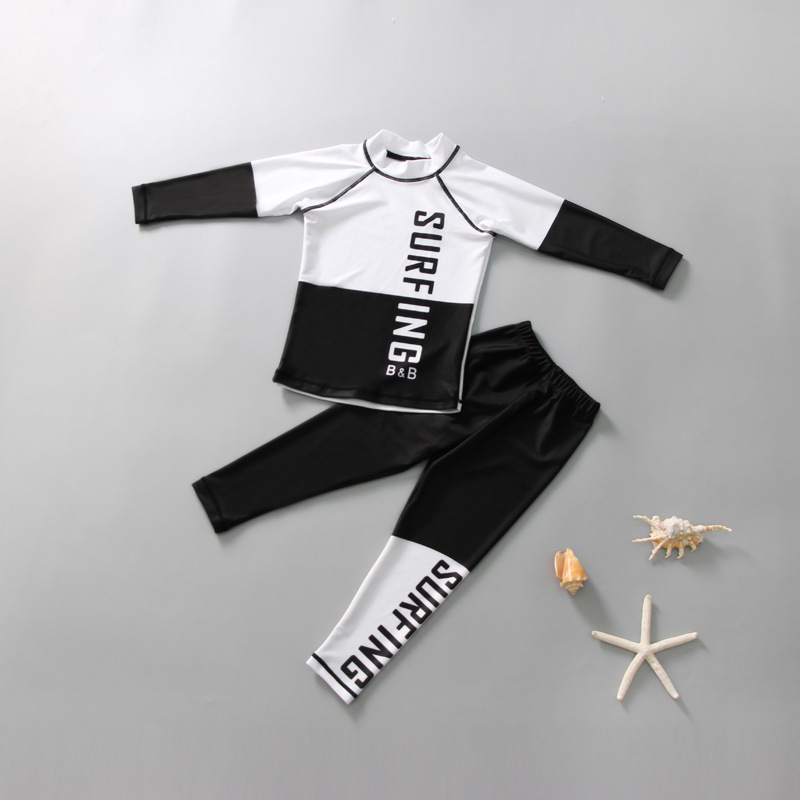 CHILDREN'S Swimwear GIRL'S Big Boy Split Type Long Sleeve Young STUDENT'S BOY'S Baby Diving Suit Hot Springs Water Park