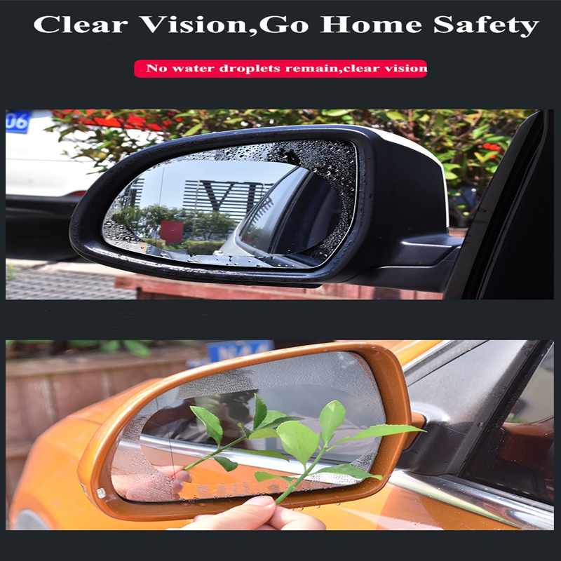Image 5 - 2 pieces/set of 24X20CM large car window waterproof anti fog transparent film non injury mirror environmental protection film ca-in Car Stickers from Automobiles & Motorcycles