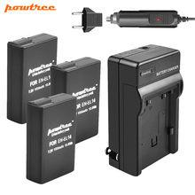 Powtree – batterie 1500mAh + chargeur de voiture pour Nikon, compatible avec les modèles D5300, D3100, D3300, D5300, D5100, D5500, P7800,P7700,P7100