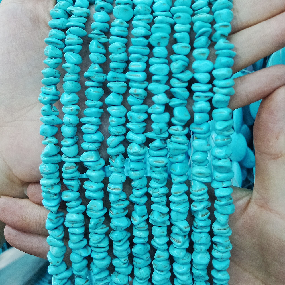 2pcs Colorful Turquoise Natural Stone Gemstone Loose Teardrop Beads Findings