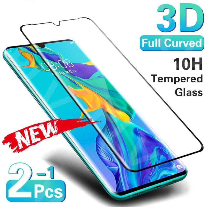 Verre trempé incurvé 3D sur le protecteur d'écran pour Huawei P30 P40 Pro P20 Lite verre trempé pour Huawei Mate 20 Pro 30 Lite