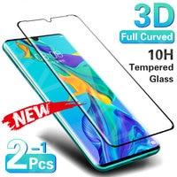 Protector de pantalla de vidrio templado curvo 3D para móvil, vidrio templado para Huawei P30, P40 Pro, P20 Lite, Mate 20 Pro, 30 Lite