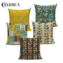 Тропическая наволочка с павлиньими перьями для гостиной дивана