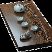Whole Chicken Wings Wooden Tea Tray Solid Wood Extra Large Tea Table Sandalwood Tea sea Kung Fu Drainage mahogany Teatray