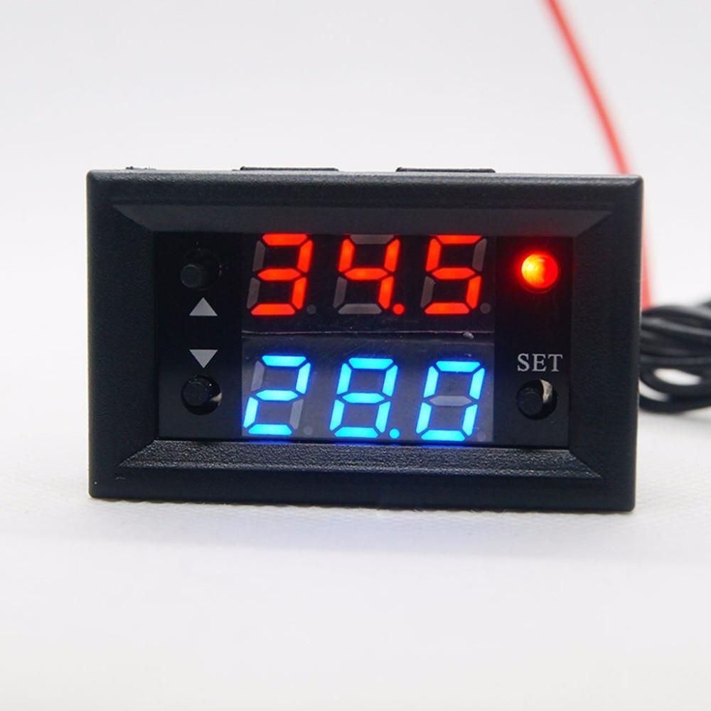 Controlador de Temperatura Vermelho com Sonda Digital Termostato Display W2810 dc 12v 20a