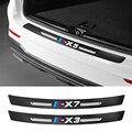 1 шт., автомобильные наклейки автомобильные аксессуары для BMW X1 X2 X3 X4 X5 X6 X7 G01 F10 F15 F16 F86 F30 F25 F26 E70 E72 углеродного волокна наклейка на багажник