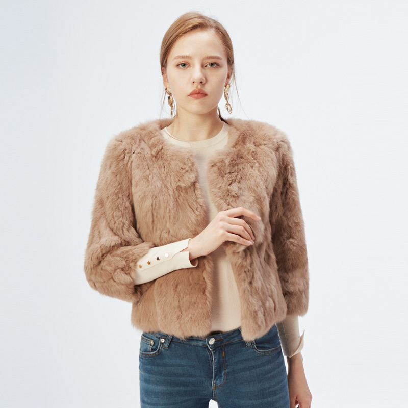H9716d69895744ea4bb82cbdf4f0fd6e1J ETHEL ANDERSON 100% Real Rabbit Fur Women's Real Rabbit Fur Coat/Jacket Outwear Beauty Purple Color XXXL Size Coat