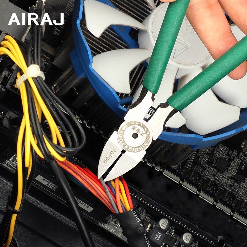 AIRAJ 5/6/7 Inch Diagonal Pliers Chrome Vanadium Steel Stripper Wire Pliers Insulated High Torque Circuit Repair Hand Tool