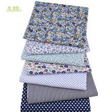 Serie Floral, tela fina lisa de algodón, ropa de retales para acolchar y coser DIY, Material de cuartos anchos, 50x50cm