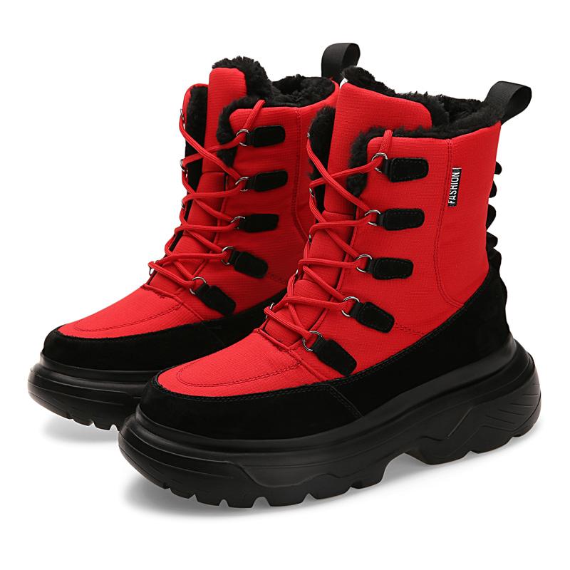 Fashion Winter Men Snow Boots Bota Coturnos Masculino Male Warm Waterproof Non-slip Cotton Shoes Men Winter Sneakers Ankle Boots
