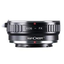 K & F CONCEPT dla EOS FX Adapter do obiektywu pierścień do canona EOS EF/EFS mocowanie obiektywu do Fujifilm X mocowanie Fuji X Pro1 XPro1 X