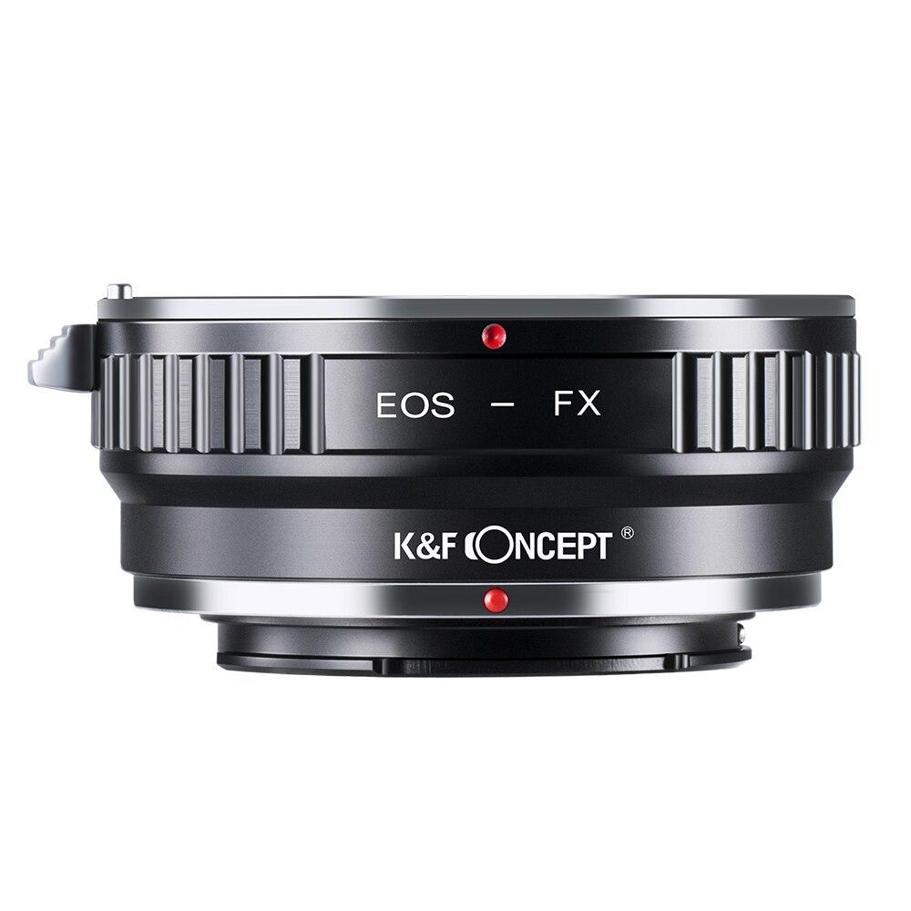 K & F CONCEPT para EOS-FX anillo adaptador de lente de cámara para Canon EOS EF/EFS lente de montaje para Fujifilm X montaje Fuji X-Pro1 XPro1 X