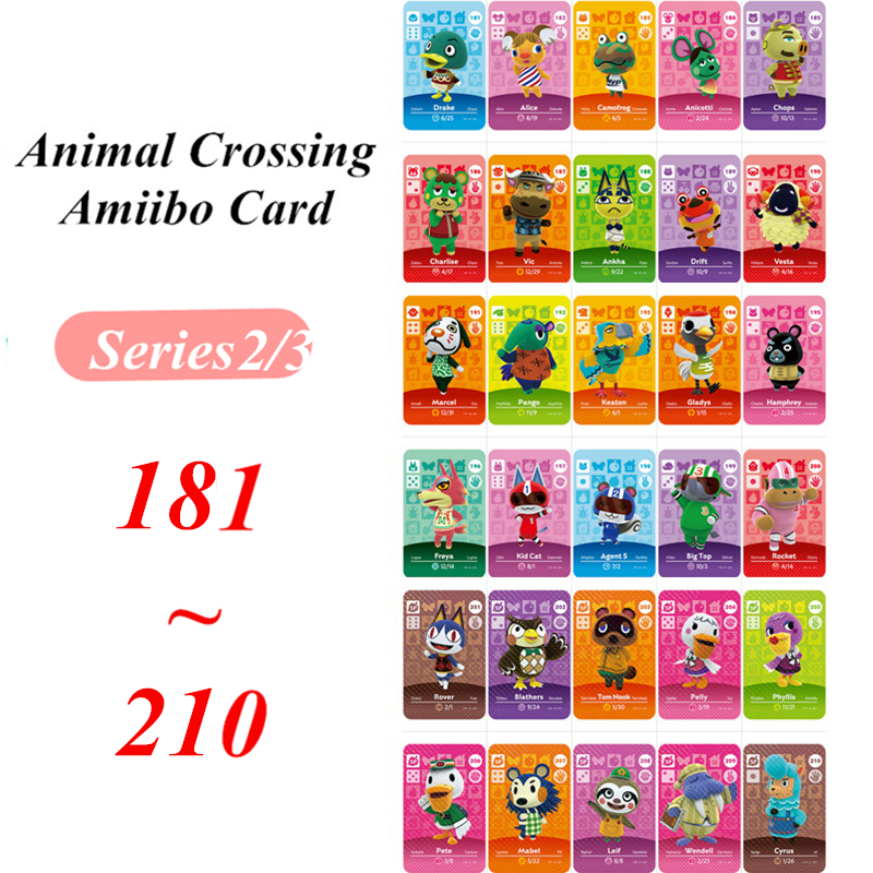 Animal Crossing Card Series 2 3  Amiibo NFC Card For Nintendo Switch NS Games Series 2 3  (181 To 210)