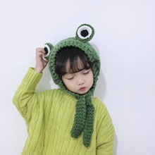 New Winter Keep Warm child Hats Lovely Exceed Adorable child Hats Girl Wool Hat Manual Weave Frog Children Knitting Hat tide leisure time hats lovely student winter keep warm knitting wool hat winter woman wool knitting hat