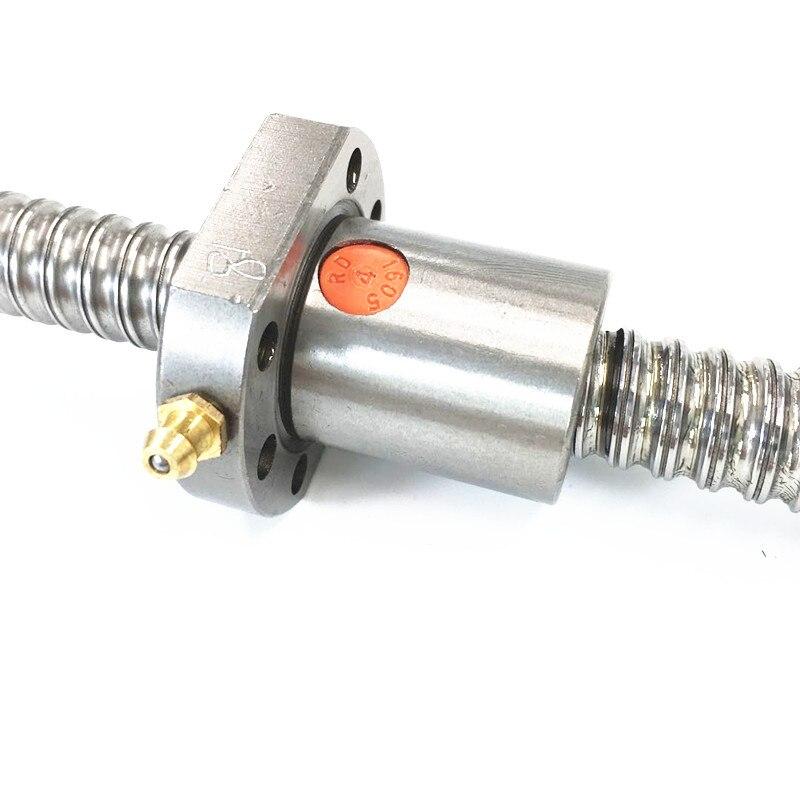 SFU RM2505 vis à billes SFU2505 200-2550mm 25mm vis à billes C7 avec 2505 2510 bride simple/Double écrou BK/BF20 extrémité usinée pour pièces de CNC - 4