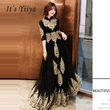 Robe De soirée à col montant, grande taille, élégante, Sexy ajourée, demi manches, robes De bal, E536, modèle 2019