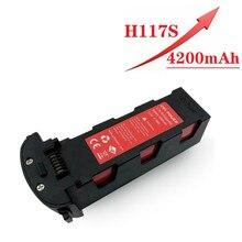 Atualize 11.4v 4200mah bateria para hubsan h117s zino gps rc quadcopter peças de reposição 11.4v bateria para rc fpv que compete drones da câmera