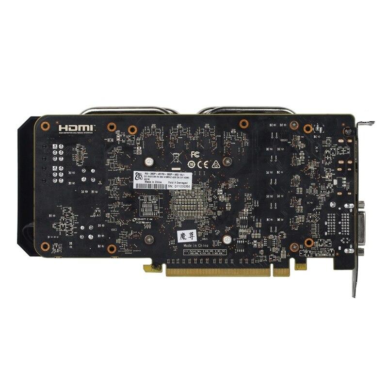 Видеокарта XFX R9 380 4 Гб, видеокарта AMD Radeon R9 380X 4 Гб, видеокарта GPU, Настольная компьютерная игра, видеокарта, не Майнинг-1