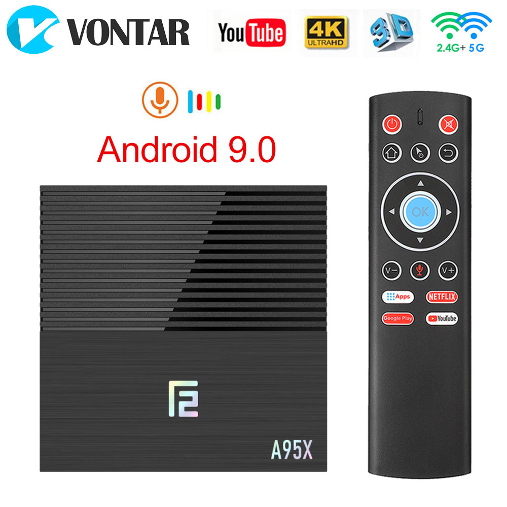 2020 VONTAR A95X F2 4GB 32GB 64GB Smart TV Box Android 9.0 Amlogic  S905X3 Support 1080p 4K  Youtube A95XF2 TVBOX  Set Top Box