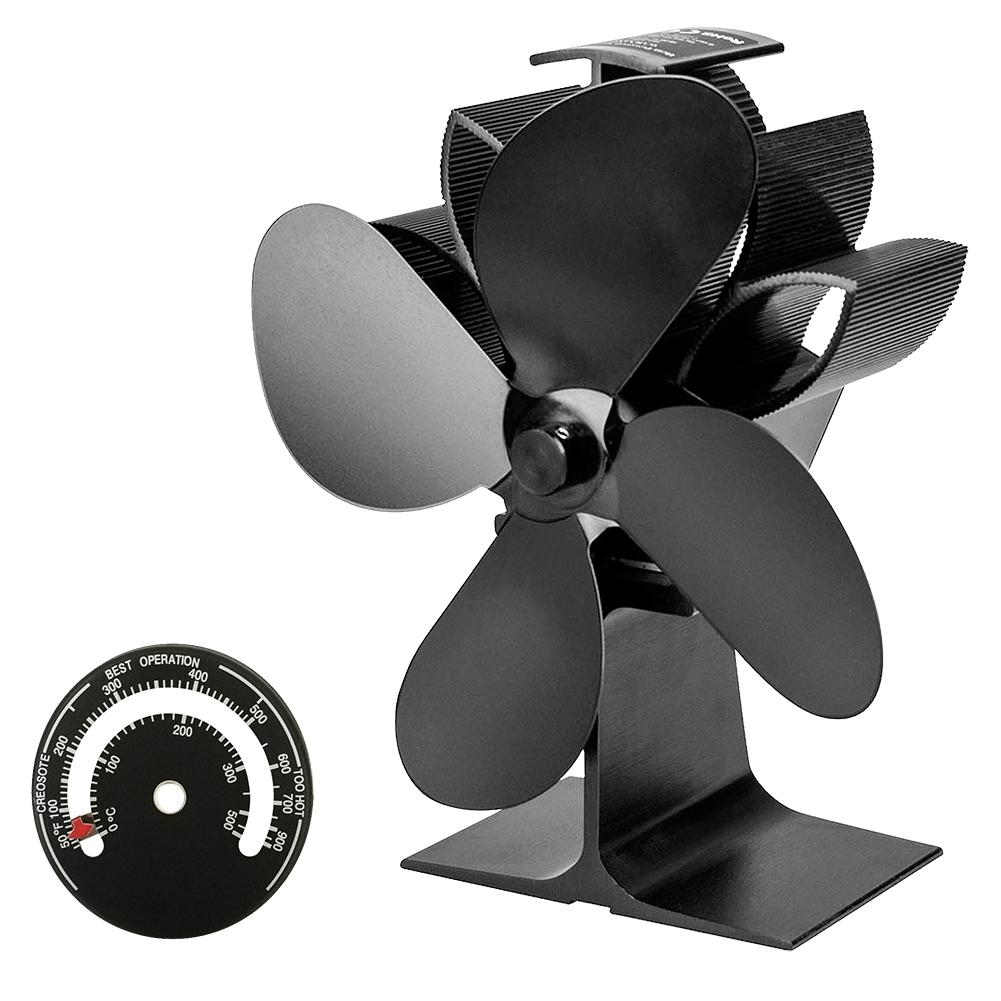Thermal Power Fireplace Fan Heat Powered Stove Fan With Warm Air For Wood Log Burner And Fireplace