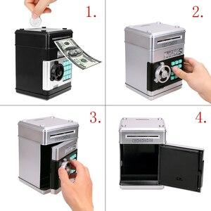 Image 4 - Anpro كلمة السر الإلكترونية حصالة على شكل حيوان ATM حصالة النقود عملة التلقائي إيداع الأوراق النقدية آلة توفير المال ATM البنك صندوق الأمان