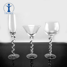 Spot Champagne Cup wholesale customization lead-free high-grade creative twist listening goblet