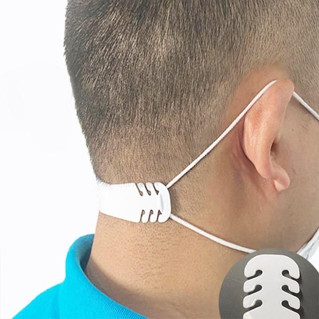 100Pcs Adjustable Face Mask Ear Hook Extension Buckle Earache Prevent Fixer Ear Strap Extension Disposable Mask Anti Lock Buckle 1
