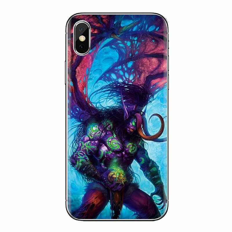 Untuk LG G3 G4 Mini G5 G6 G7 Q6 Q7 Q8 Q9 V10 V20 V30 X Power 2 3 K10 k4 K8 2017 Soft Shell Cover Illidan World Of Warcraft WOW Seni