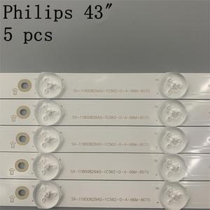 "Image 3 - 5pcs Tira CONDUZIDA 12leds LB43014 V0_00 para Ph ilips 43 ""TV 43PUS6551 TPT430U3 EQLSJ A.G 43PUS6501 43PUS6101 43PUS6201 43PUS7202 3V"