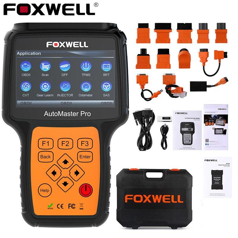 Foxwell nt644 pro sistema completo obd2 scanner abs srs em dpf epb óleo redefinir ferramenta de diagnóstico profissional odb2 obd scanner automotivo