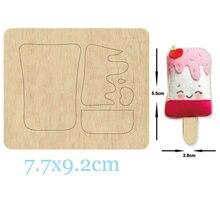 Пресс формы для изготовления мороженого дерева кожевенной ткани