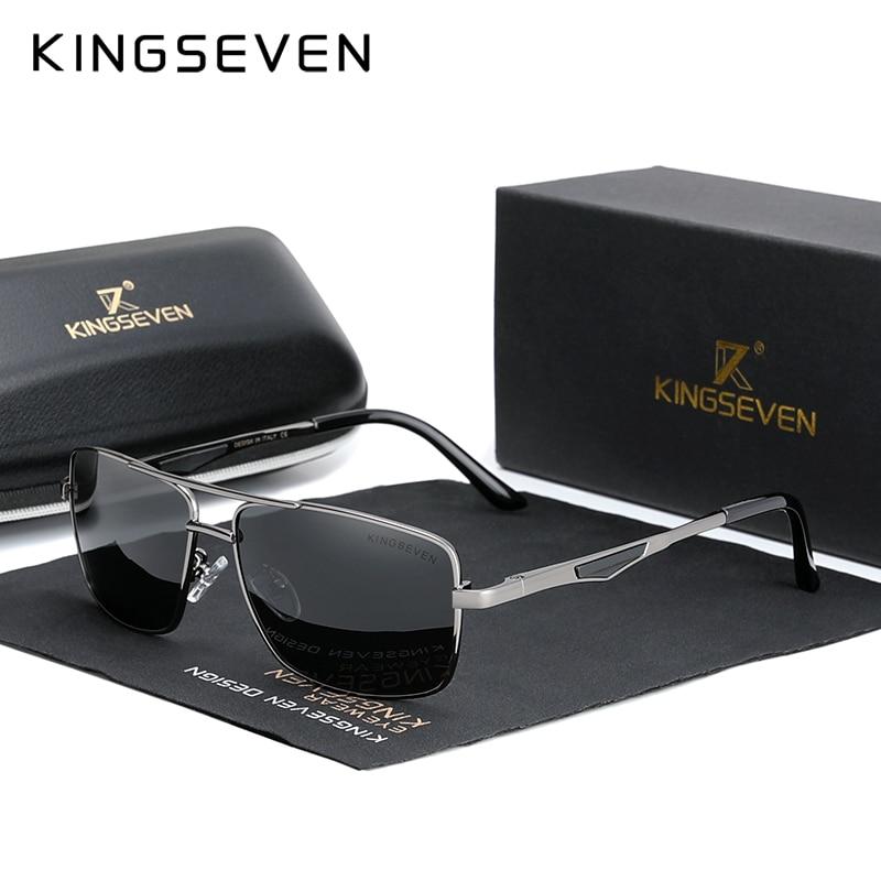 KINGSEVEN 2020 брендовые классические квадратные поляризационные солнцезащитные очки для мужчин, мужские солнцезащитные очки для вождения, очки ...