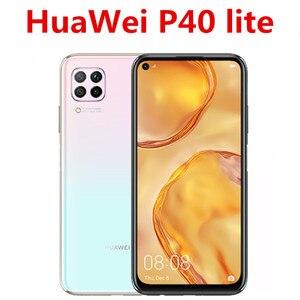 Международная версия HuaWei P40 Lite мобильный телефон 48.0MP + 8.0MP + 2.0MP + 16.0MP 6,4
