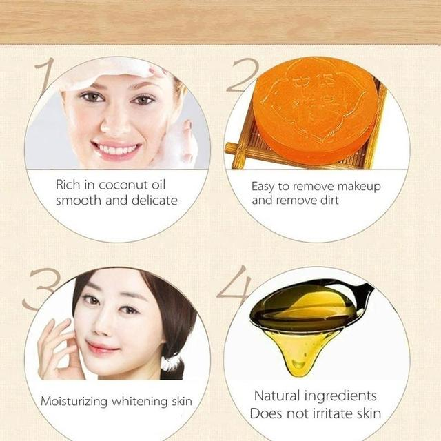 1 PC Oil Control Soap Body Skin Exfoliating Whitening Natural Bath Shower Remover Cleansing Magic Soap 5