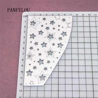 Die sterne fällt 12,2x7,2 cm papier stanzen schablonen punch Metall schnitte stirbt schneiden stirbt Scrapbooking DIY Präge form karte