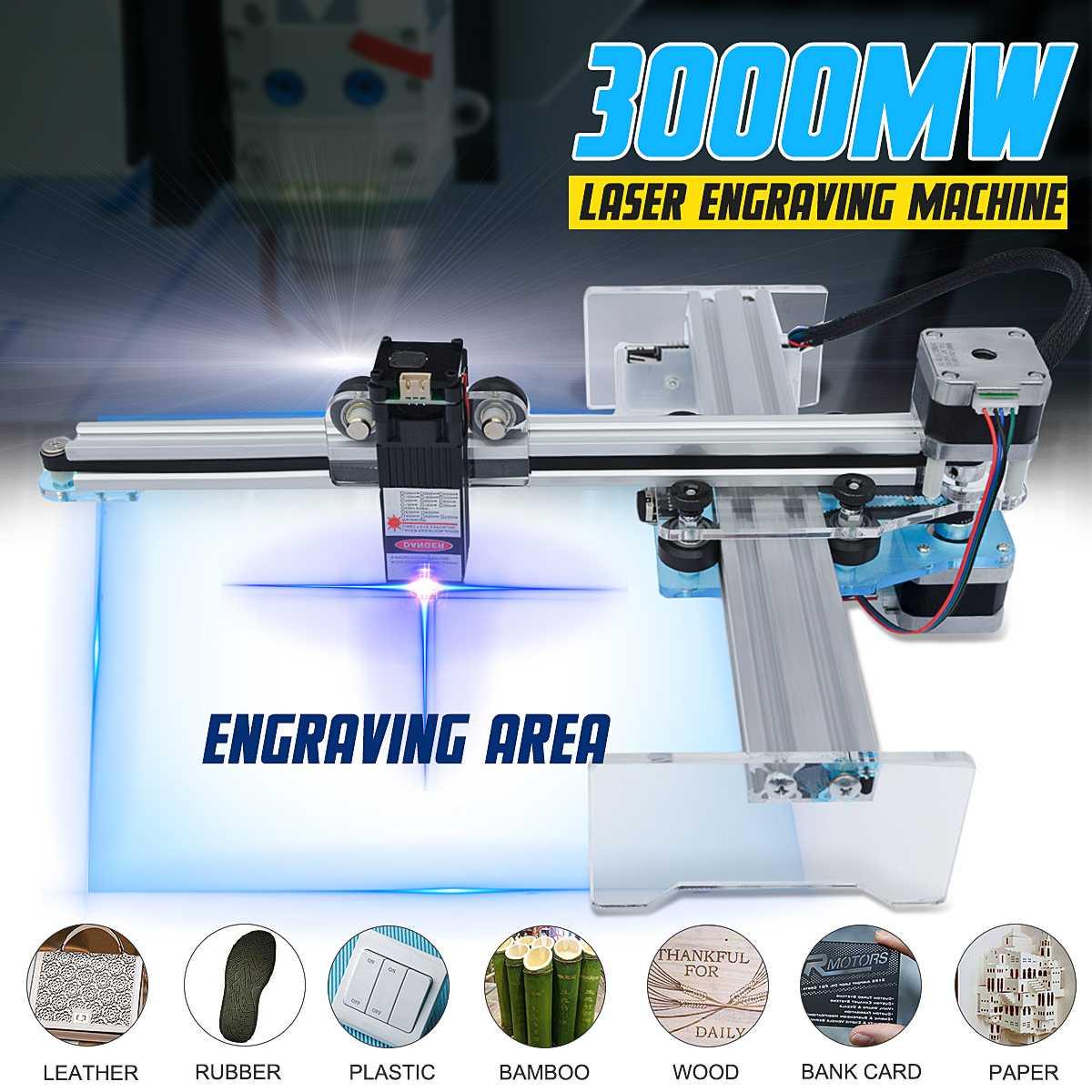 405nm 3000mW CNC Laser Wood Engraving Machine Laser Cutting Engraving Machine DIY Desktop Wood Cutter/Printer High Quality
