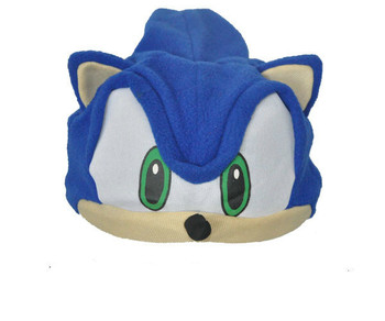Miniko Cute GE Animation Sonic Figure Hedgehog Hair Cosplay Hat Fleece Cosplay Cap Anime Plush Hat Costumes Gift For Children tanie i dobre opinie Blue Neutral both men and wome