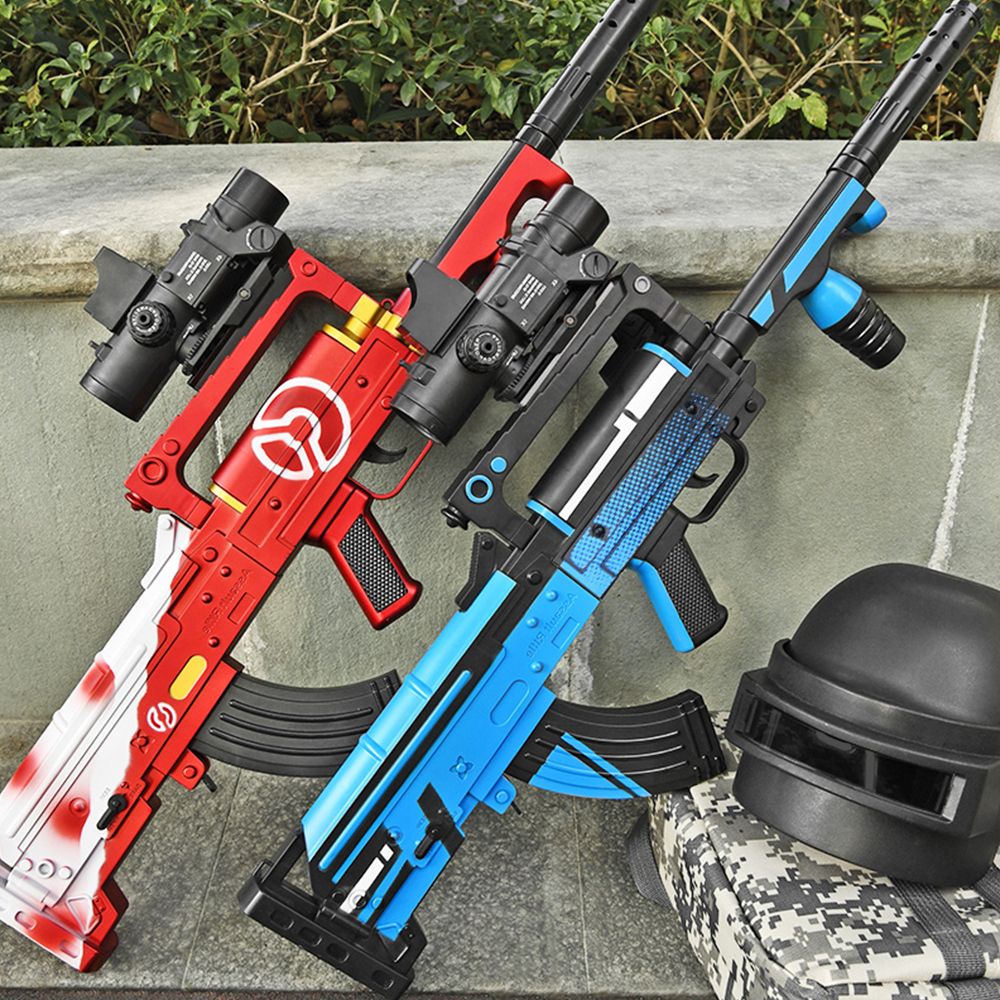 Plastic Toy Guns Weapon Groza Assault Rifle Electric Blaster Water Gel Ball 7-8mm Water Bullets Gun Shooting Game Toys For Boys