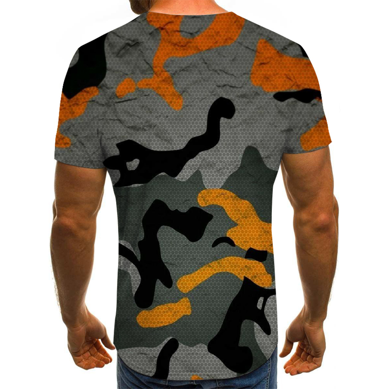 3D Camouflage T-shirt Army Green Blue Camouflage Tshirt Men Women Casual Summer Tee Hunting Short Sleeve Tops 6XL