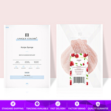 Cherry Blossom Konjac Sponge Organic Natural Facial Cleansing Scallop shape Original Konjac Cleaner for Sensitive skin