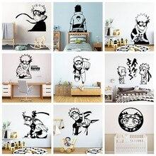 Забавные Uzumaki наклейки на стену Наруто, Декор стен для детской комнаты, настенные наклейки, настенная наклейка