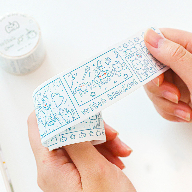 Mohamm 1Pcs Kawaii Bear Rabbit Tape Decorative Creative Cartoon Stickers Scrapbooking Stationery School Supplies