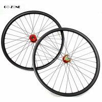 27.5er mtb fiets carbon wielen 30x25mm tubeless wiel HOOP 4 boost 110x15 148x12 /steekas carbon wielset disc pijler 1420