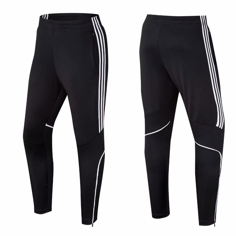 Fashion Mens Soccer Training Sport Trousers With Pocket Jogging Male Sport Gym Fitness Workout Running Pants Pantalon Deportivo