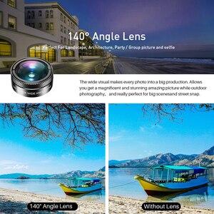 Image 2 - APEXEL جديد الهاتف عدسة الكاميرا عدة 6 في 1 عين السمكة عدسة 205 درجة زاوية واسعة 25X عدسة ماكرو CPL/ستار ND32 تصفية للهواتف الذكية