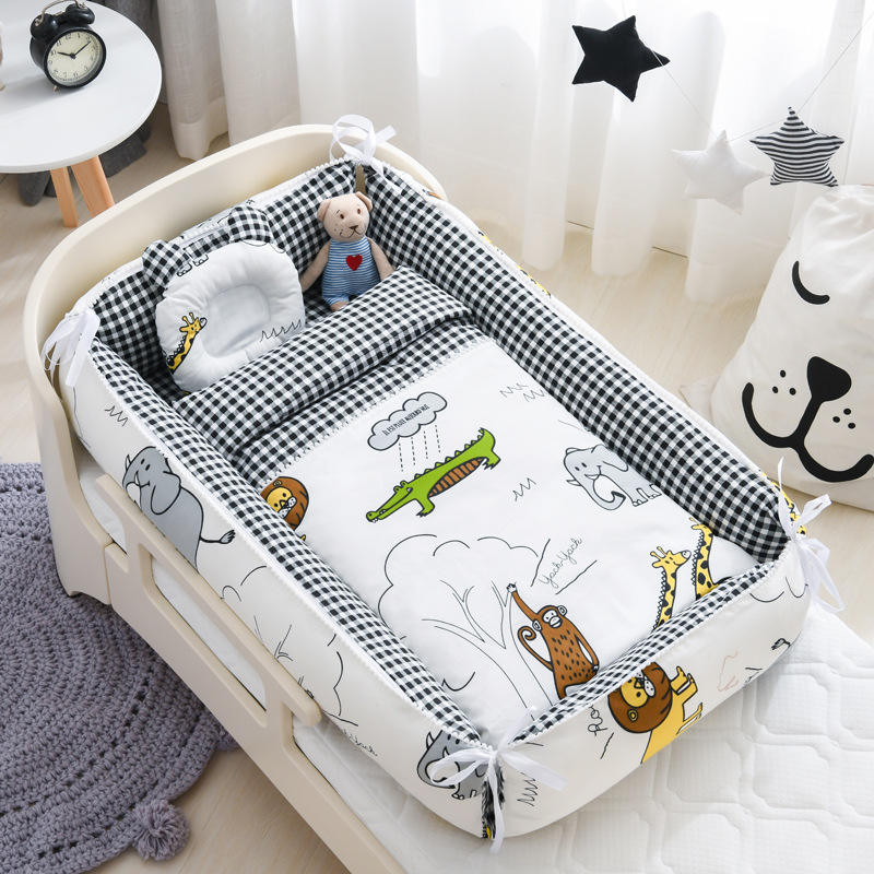 Portable Crib, Middle Bed, Baby's Playbed, Detachable, Bionic Quilt For Newborn, Coax To Sleep, Magic Bed