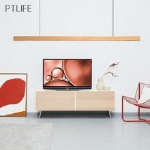 Lampe LED suspendue en bois au design nordique moderne, luminaire décoratif d'intérieur, idéal pour un salon, une salle à manger, une cuisine, un bureau, un Bar ou un café