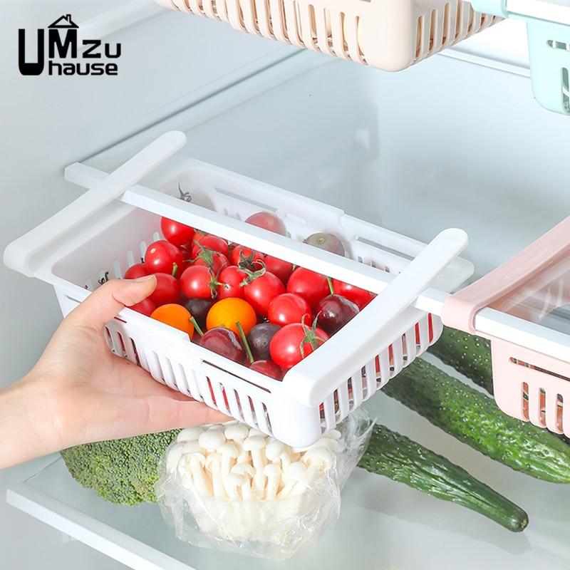 Cajas de almacenamiento ajustables, estantes elásticos para cajones, alimentos frescos, huevos de fruta, nevera, organización de cocina, organizador de estantería para nevera|Cajas y recipientes de almacenamiento| - AliExpress