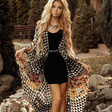 Beach Cover Up Tunics for Print Chiffon Long Kaftan Bikini Robe De Plage Sarong Wrap Swimsuit